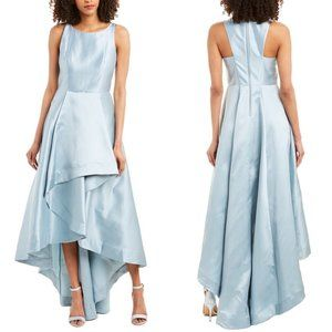 Adrianna Papell • Mikado High Low Gown Aquadust